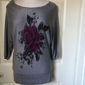 White house black market pullover top tunic M